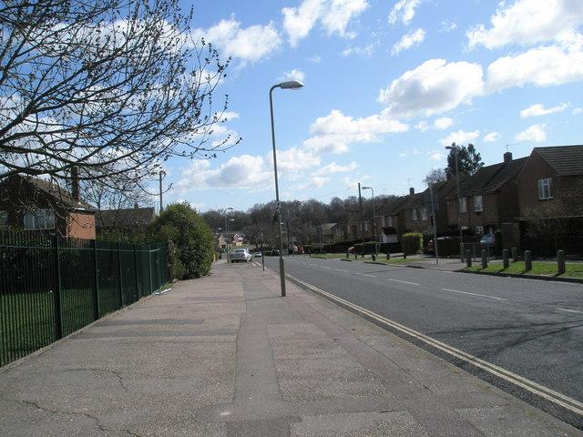 Looking eastwards down Mill Road