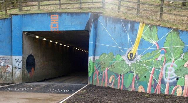 Tunnel under the M1 motorway