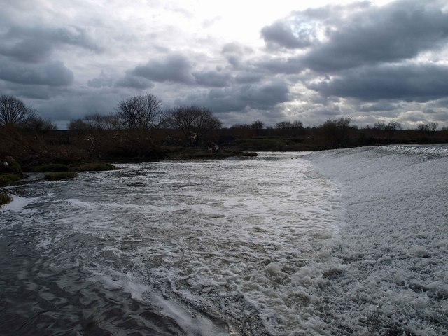 Weir on the River Calder