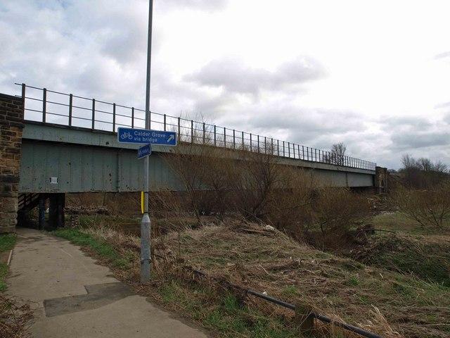 Railway bridge over the River Calder