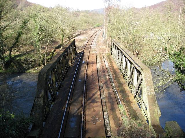Railway Bridge crossing the River Derwent