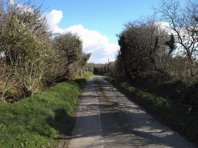 Lane past Tregray Farm
