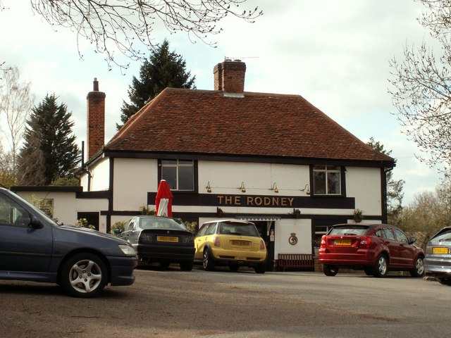 'The Rodney' public house in the centre of Little Baddow village