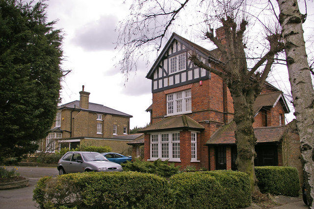 Houses in Slades Hill, Enfield