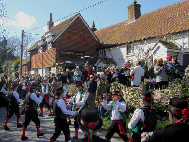 Morris Men at the Rose Cottage, Alciston, East Sussex