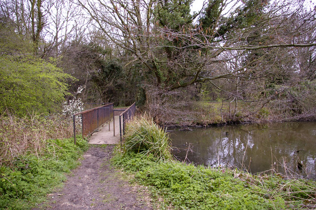 Bridge over Gully from Boxer's Lake, Enfield