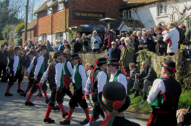 Chanctonbury  Ring Morris Men, Alciston, East Sussex