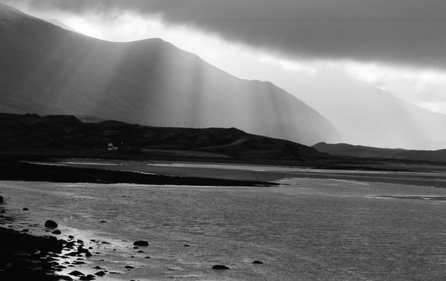Sun's rays over the Kyle of Durness