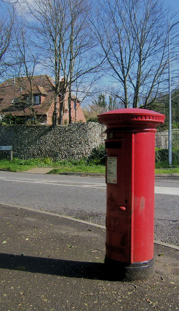 Postbox in Firle Road, East Blatchington, Seaford