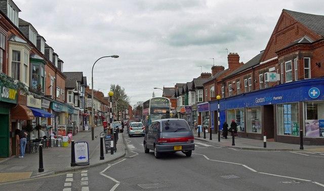 Shops along Queens Road
