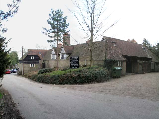 Old farm buildings at Standen