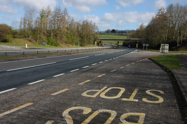 Goodrich junction on the A40