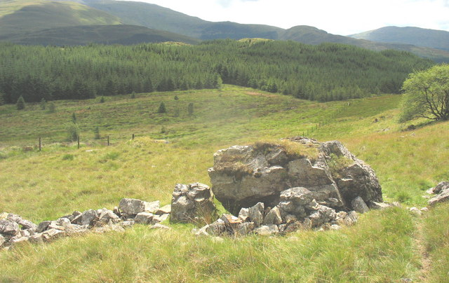 Boulders on slope above Gors Wen