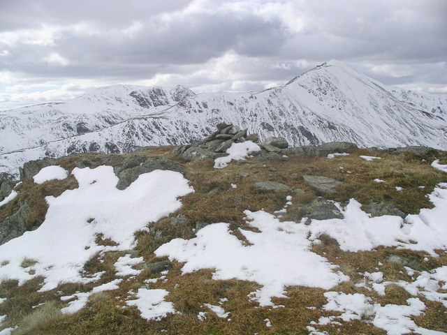Meall na Fearna summit cairn
