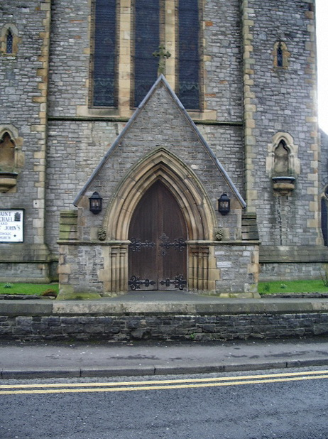 St Michael and St Johns RC Church, Lowergate, Clitheroe, Porch