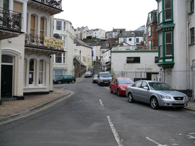 Mill Head towards the junction with Fore Street
