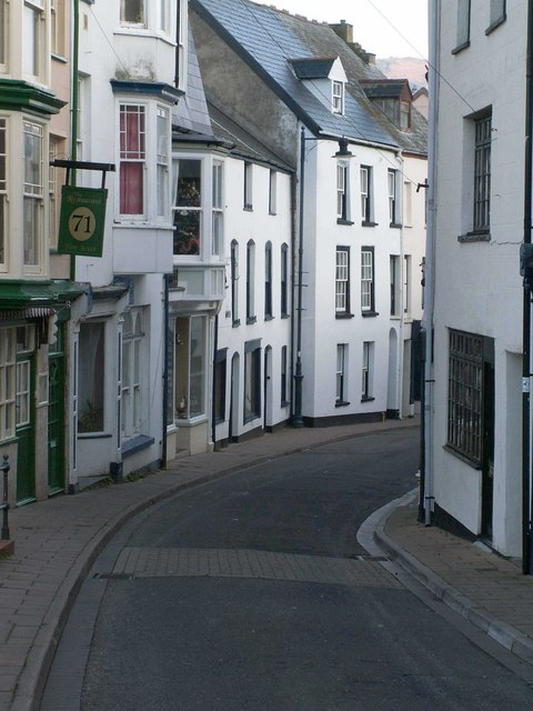Fore Street heading towards the harbour area