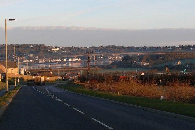 Manteo Way with Bideford New bridge in the background
