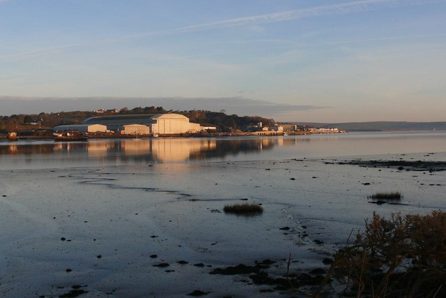 Appledore Shipyard on the Torridge estuary at sunrise