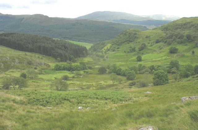 Cwm Mynach valley