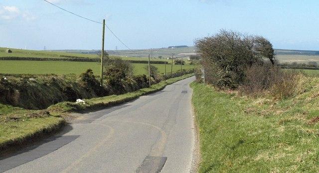 Road towards Tintagel