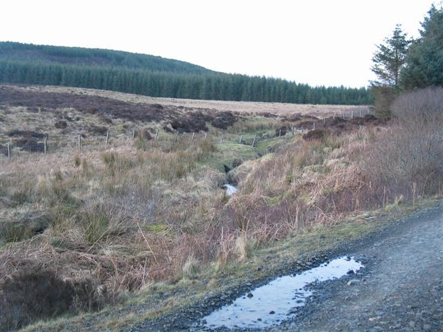 Open moorland by the track of the Kintyre Way