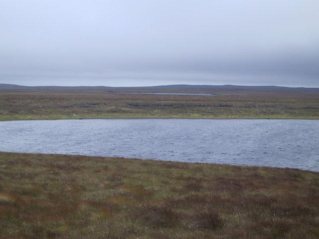 Loch a Ghainmhich and Loch an Fheoir Mhoir behind
