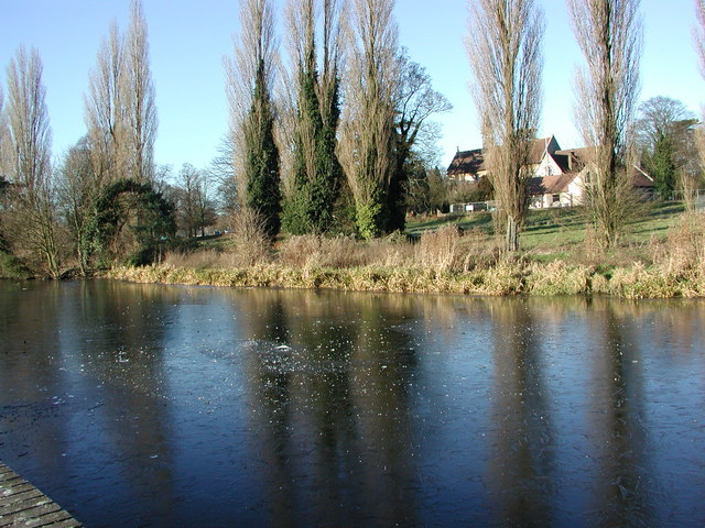 St. John's Boxmoor from across the Canal