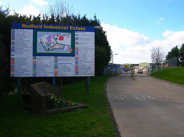 Entrance to Rudford Industrial Estate, Climping