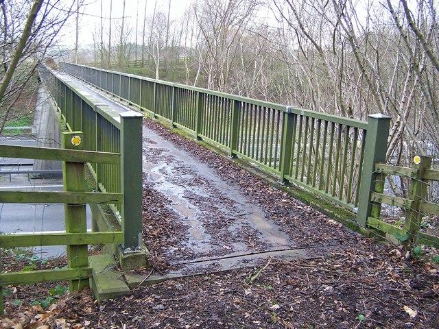 Footbridge over M2 motorway