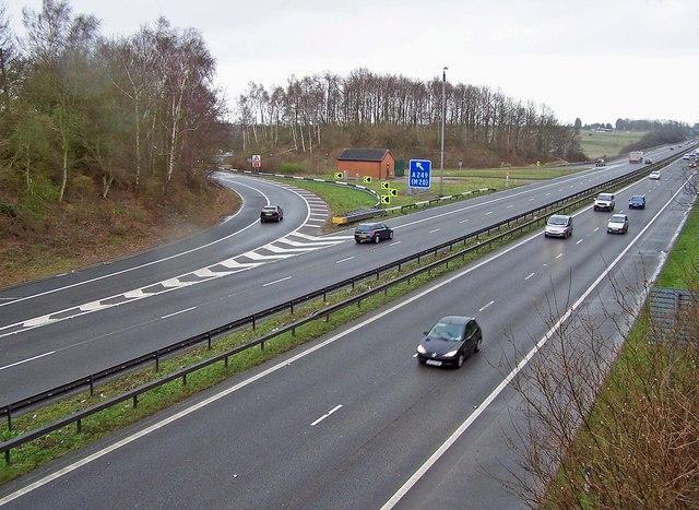 Junction 5 on the M2 motorway
