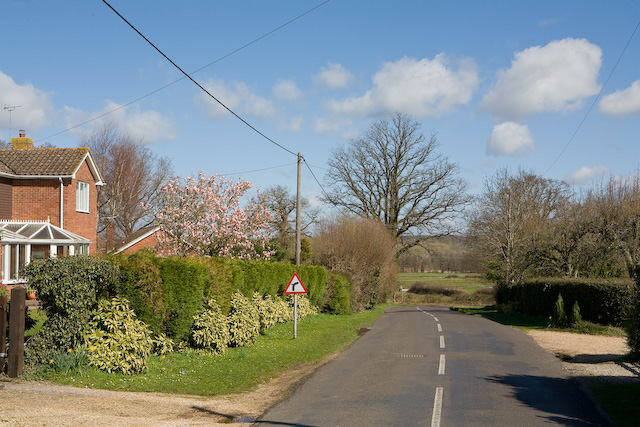 Looking towards Groves Down and Romsey Road, West Wellow
