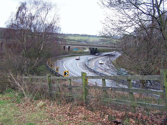 Slip road at M2 Junction 5