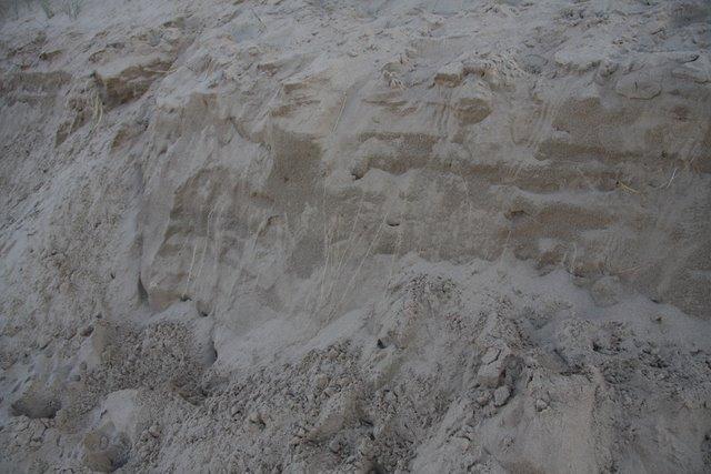 Eroding dune