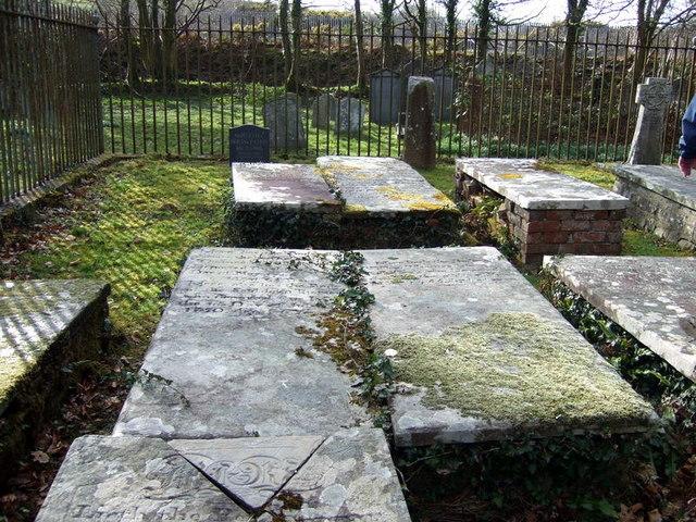 Gwynne family tombs Llanychaer