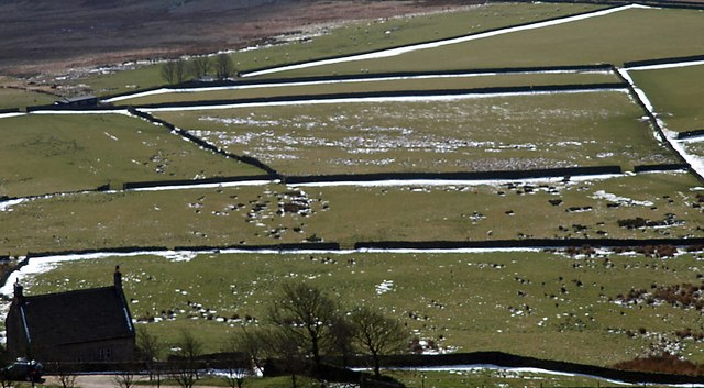 Overstones dry stone walls from Stanage Edge
