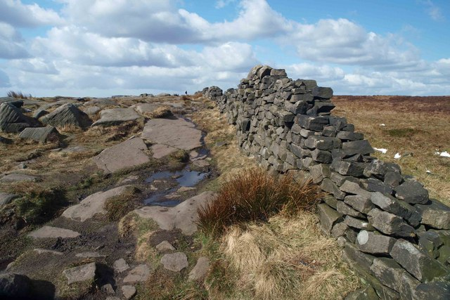 Dry stone wall on Stanage Edge