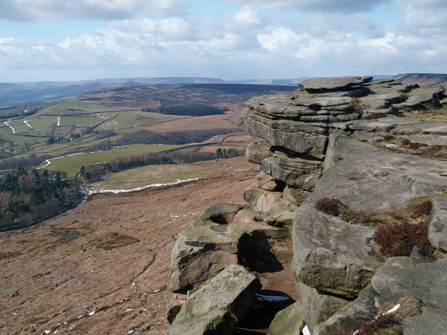 Robin Hood's cave on Stanage Edge