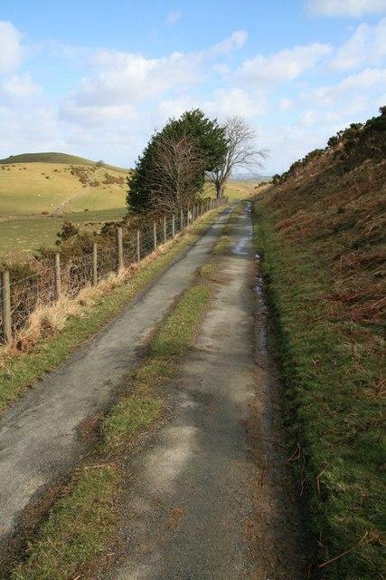 Lane across Penstrowed