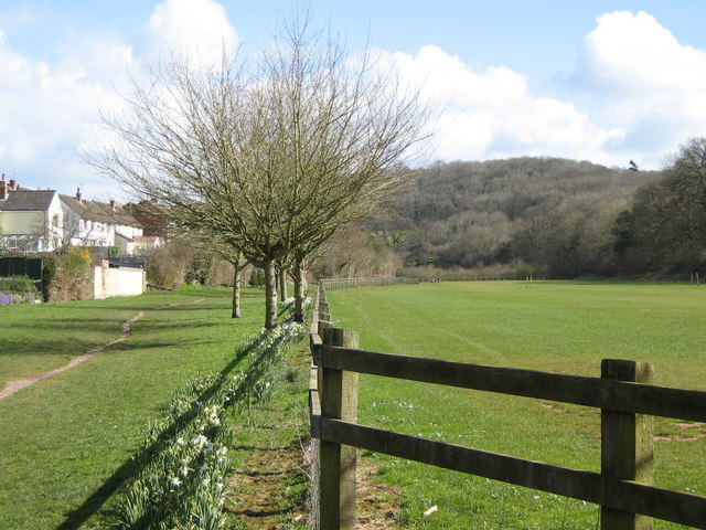 Footpath and sports pitch boundary