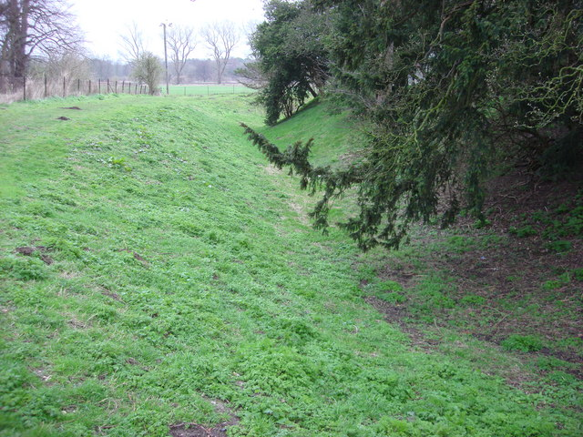 Moat, Weeting Castle