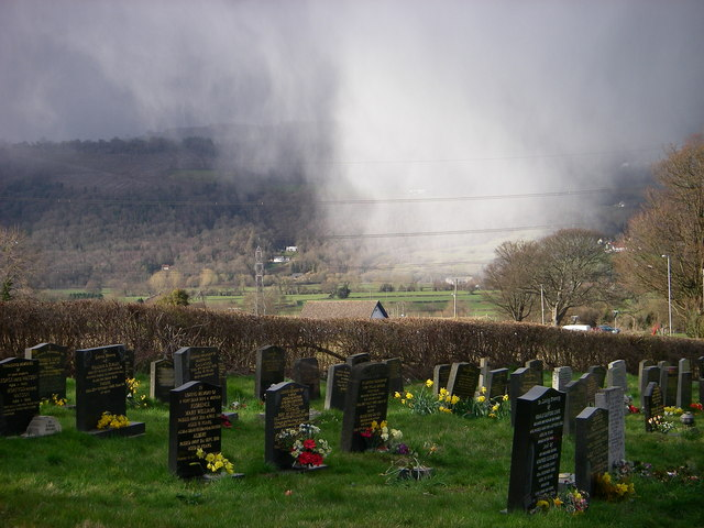 Churchyard at Govilon