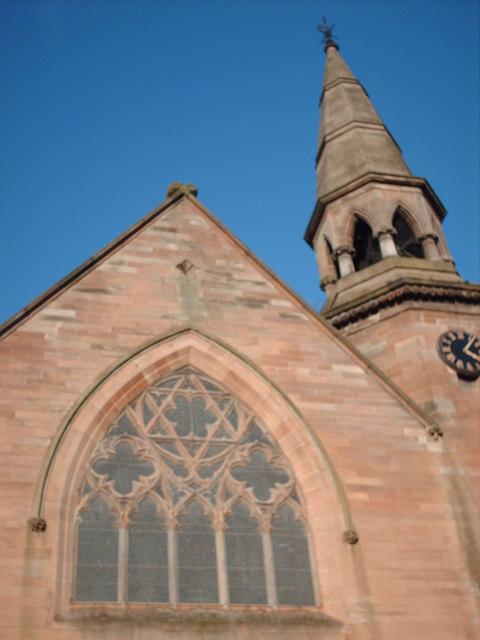Ibrox Church window and Spire