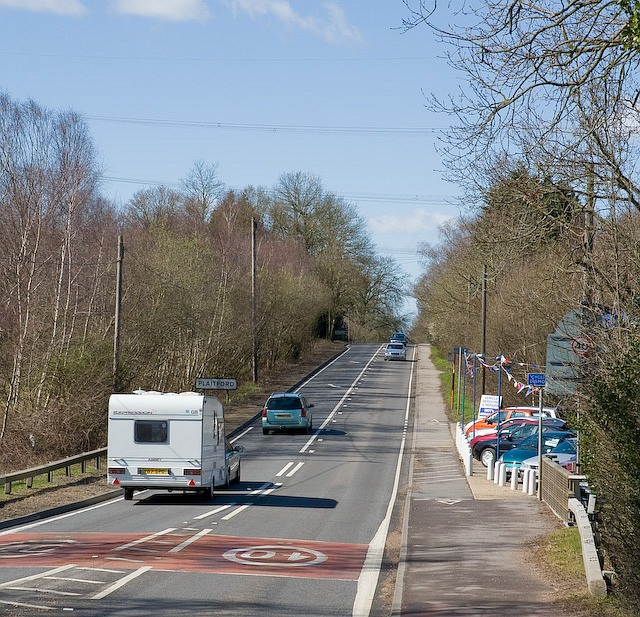 The A36 as it enters Plaitford