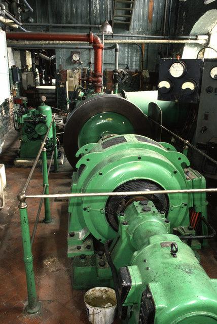 Water turbine, Longfords Mill