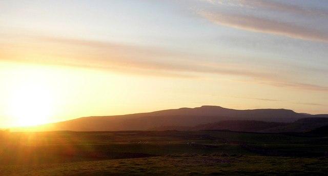 Stunning sunset by Ingleborough