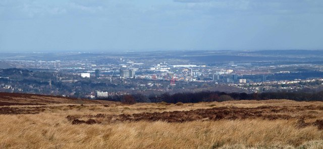 Sheffield City from Ringinglow Road