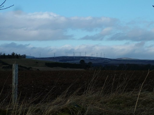 Drumderg Wind Farm from the top of Knockie
