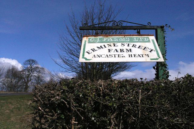 The farm sign