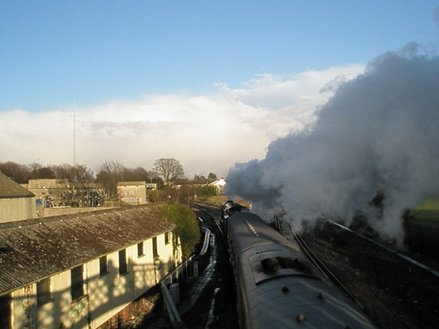 Clanline loco steaming out of Havant